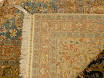 A Turkish silk and metal carpet  Turkey size approximately 13ft. x 18ft.