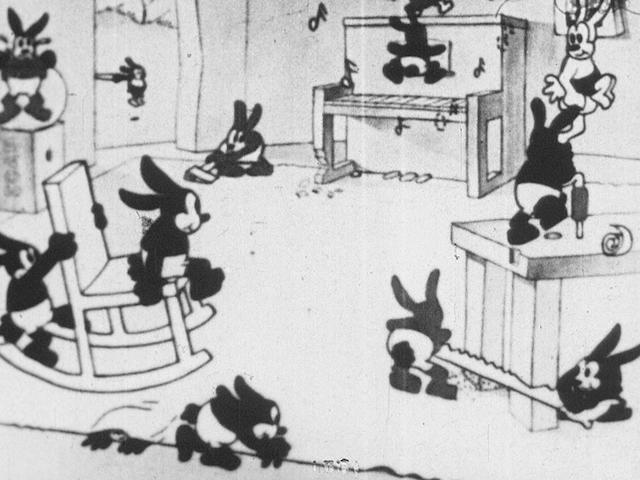 An early Walt Disney film of Oswald the Rabbit in Poor Papa, one of three known copies of the film previously thought lost
