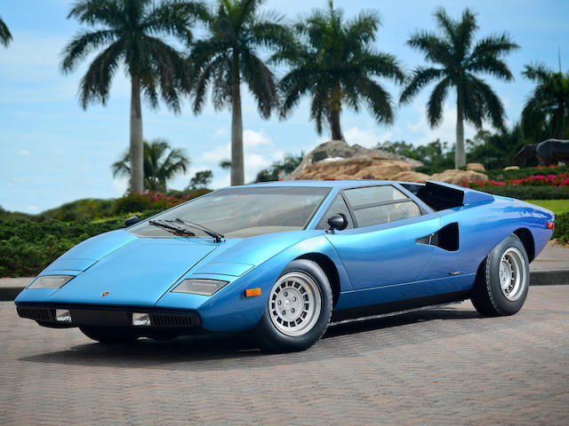 Single owner since 1978, fewer than 16,500km from new,1975 Lamborghini Countach LP400 'Periscopica'  Chassis no. 1120066 Engine no. 1120070