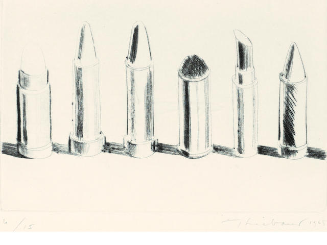 Wayne Thiebaud (born 1920); Lipstick Row;