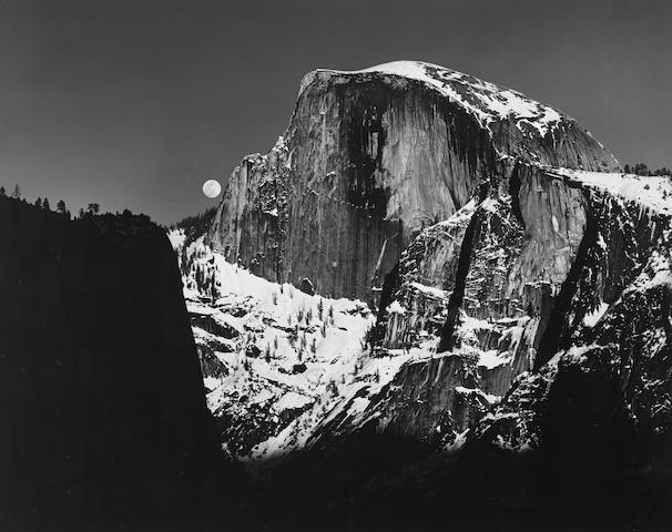 Ansel Adams (1902-1984); Moonrise, Half Dome, Yosemite Valley;