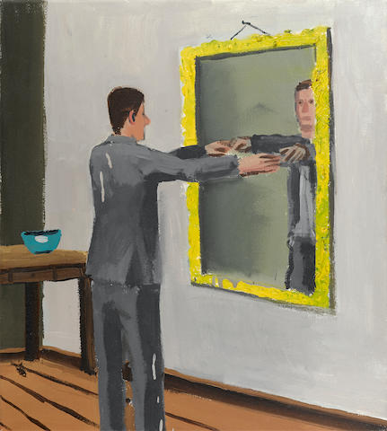 CHRISTOPH RUCKHÄBERLE (b. 1972) Untitled (Man looking into mirror), 2000