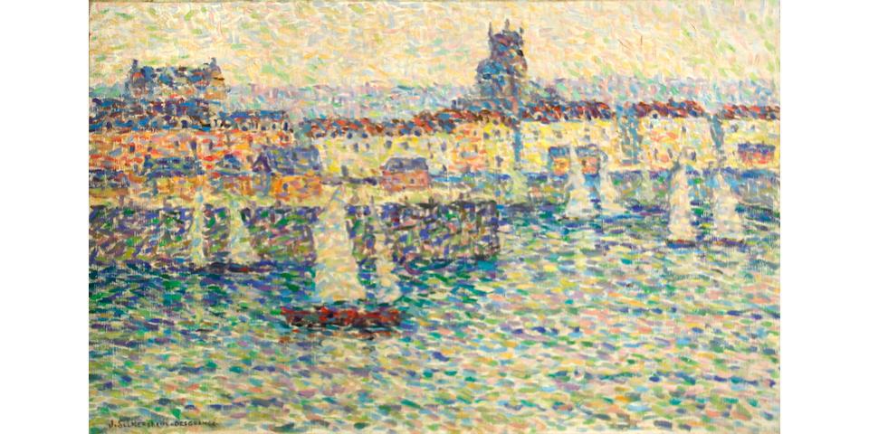 Jeanne Selmersheim-Desgranges (French, 1877-1958) Côte d'Azur 19 3/4 x 31 1/2in