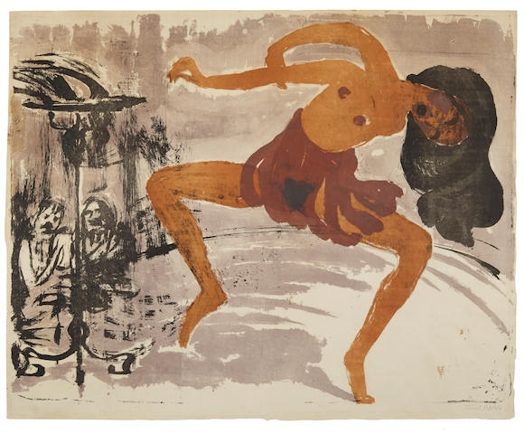 Emil Nolde (1867-1956); Tänzerin;