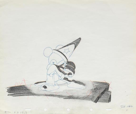 A Walt Disney Studios animation drawing from Fantasia