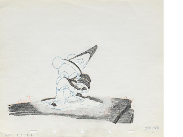 A Walt Disney Studios animation drawing from Fantasia