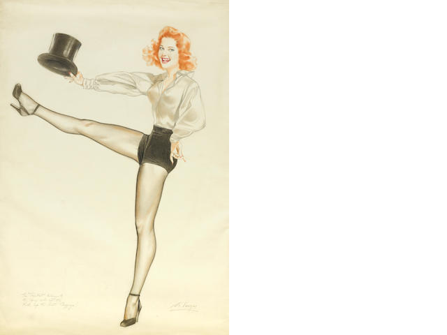 An Alberto Vargas illustration of Eleanor Powell