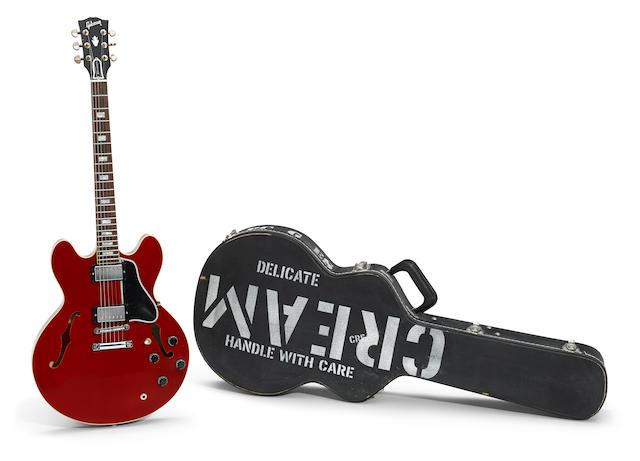 An Eric Clapton Gibson ES-335 Crossroads Model electric guitar