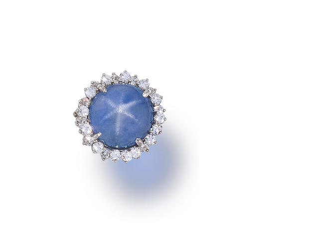 A sapphire and diamond ring, Oscar Heyman & Brothers