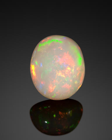 Hydrophane Opal with Intense Fire