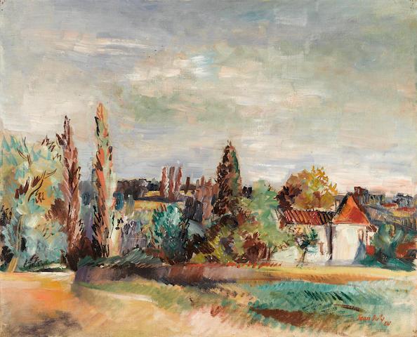 JEAN DUFY (1888-1964) Paysage du Limousin 23 5/8 x 28 3/4in. (60 x 73cm)