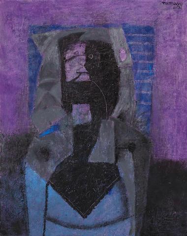 RUFINO TAMAYO (1891-1991) Personaje en negro, 1971
