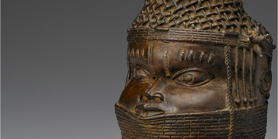 Rare Benin Head of Queen Mother, Nigeria