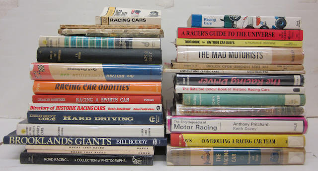 A large grouping of motor racing history and reference titles,