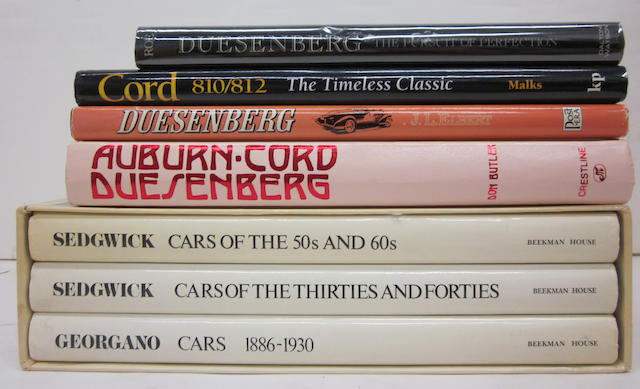 A good lot of high end American marque titles,