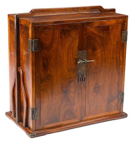 A large handled hardwood storage box