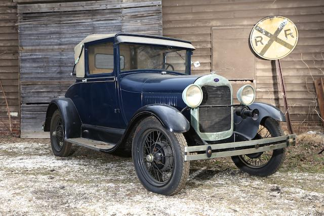 "1928 Ford Model ""AR"" Rumble Seat Sport Coupe  Engine no. A843315"