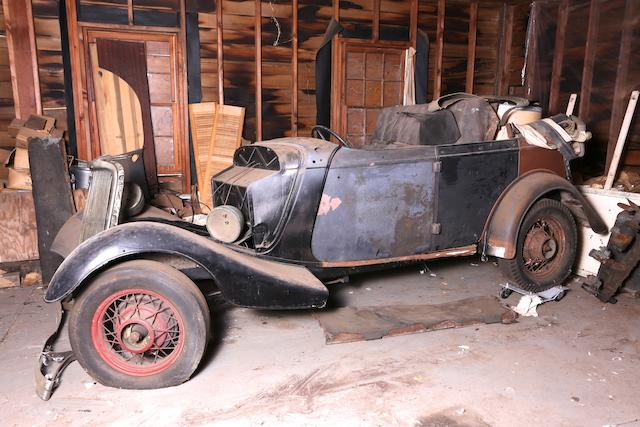 1934 Ford Phaeton  Chassis no. Illegible