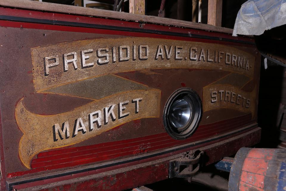 1906 Hammond San Francisco California Street Cable Car