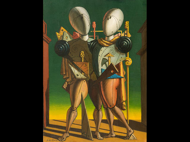GIORGIO DE CHIRICO (1888-1978) Ettore e Andromaca 21 1/2 x 15 5/8in. (54.8 x 39.8cm)