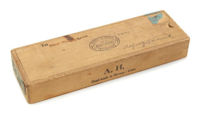 An Alfred Hitchcock cigar box