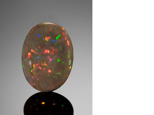 Black Opal with Red Fire