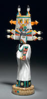"Carved and Inlaid Gemstone Kachina--""The Butterfly Mana"""
