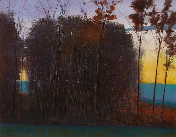 Charles Basham (American, born 1952) Last Leaves of Fall, 1991 sight 29 1/2 x 40in.