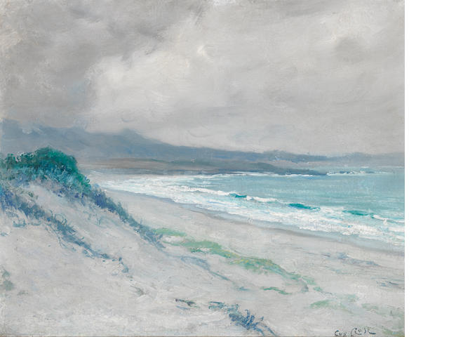 Guy Rose (American, 1867-1925) Lifting Fog, Carmel Dunes, 1920 15 1/4 x 18 1/2in