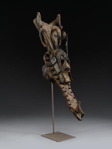 Ijebu-Yoruba Large Water Spirit Headdress Mask, Nigeria