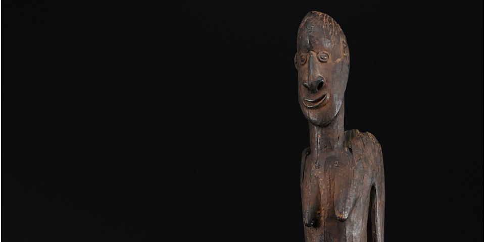Large Iatmul Female Figure, Middle Sepik River Region, East Sepik Province, Papua New Guinea,