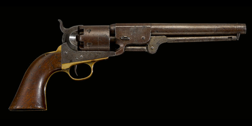 A Confederate percussion revolver by Leech & Rigdon of Greensboro, Georgia