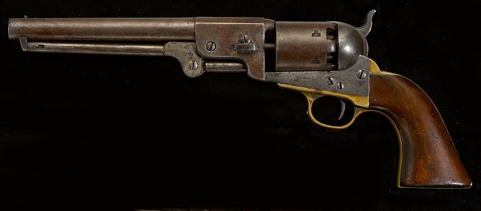 A Confederate percussion revolver by Leech & Rigdon of Greensboro, Georgia