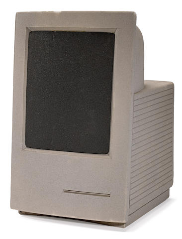 APPLE MACINTOSH. Apple Macintosh LC prototype model, 14 x 9 x 10 inches, [Palo Alto, CA, 1989], painted foam,