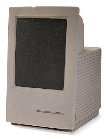APPLE MACINTOSH. Apple Macintosh LC prototype model, 14 x 9 x 10 inches, [Palo Alto, CA, 1989], painted foam,
