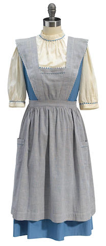 """A Dorothy """"test"""" dress and pinafore from The Wizard of Oz"""