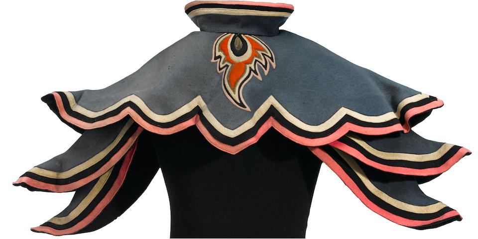 An Adrian designed winged monkey prototype cape from The Wizard of Oz