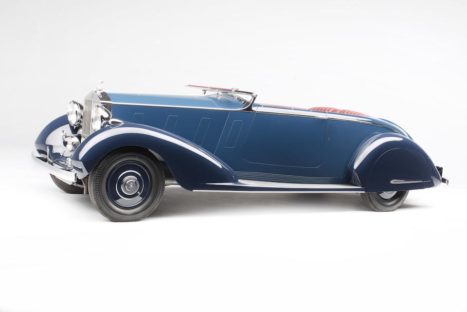 <i>The ex-Maharaja Nawab Muhammad Hamidullah Khan</i><br /><b>1936 ROLLS-ROYCE  PHANTOM III SPORTS FOUR-SEATER  </b><br />Chassis no. 3BU86 <br />Engine no. B38A