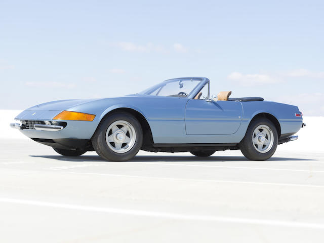 Exceedingly original and preserved condition Prominent ownership and less than 3,400 miles from new,1973 Ferrari 365GTS/4 Daytona Spider  Chassis no. 17057 Engine no. B2944