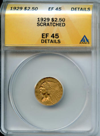 1929 $2.5 XF45 Details - Scratched ANACS
