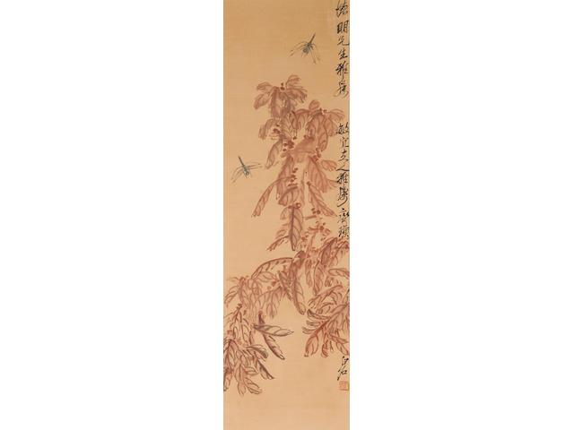 Qi Baishi (1863-1957)  Amaranths and Dragonflies