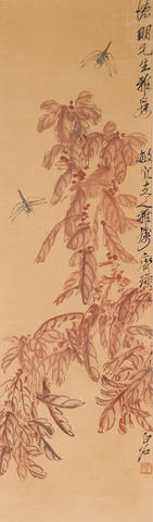 Qi Baishi (1863-1957)  Amaranths and Dragonflies