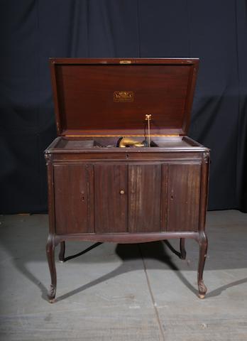 A cabinet Victrola,