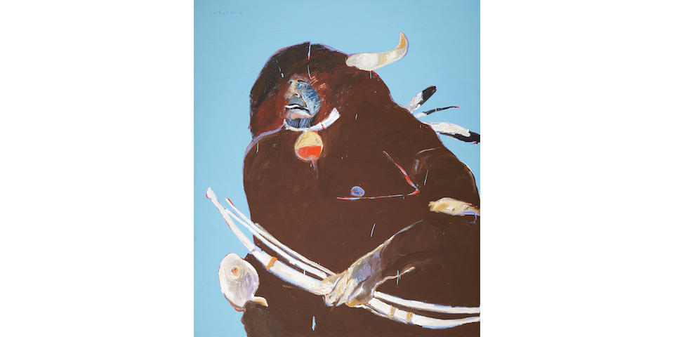 "A Fritz Scholder painting, ""Buffalo Dancer"""