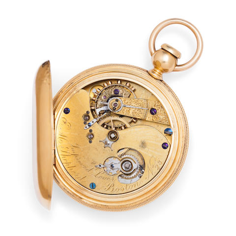 "George P. Reed. A fine and rare 18K gold ""Improved Lever"" watchSigned E. M. Shepherd, Boston, No. 23"