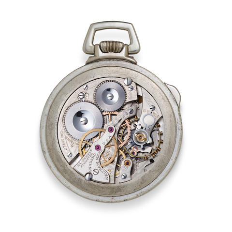 Waltham. A fine open face 24-hour dial center seconds hack watch with winding indicatorVanguard, No. 27538850, 1930's
