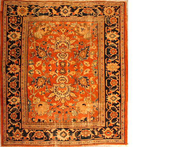 A Sultanabad carpet size approximately 9ft. 1in. x 10ft. 4in.