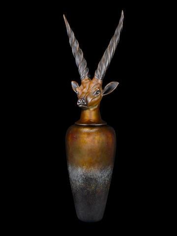 William Morris (American, born 1957) Canopic Jar: Giant Eland, 2004