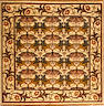 A William Morris Design rug  size approximately 8ft. 9in. x 8ft. 9in.