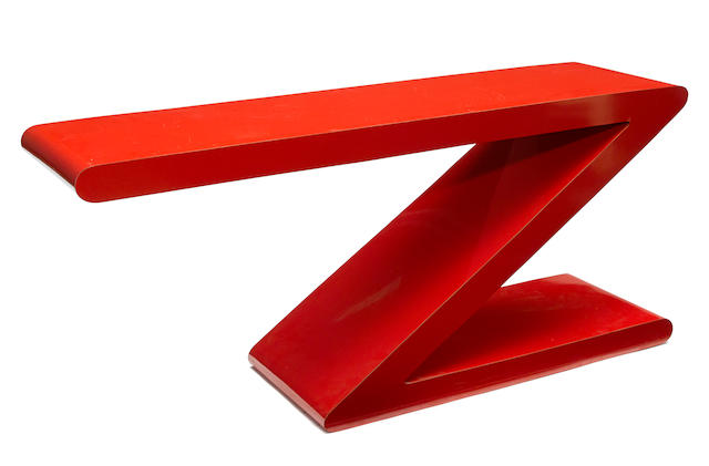 A Contemporary Z-form console table